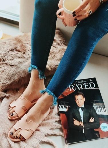 Arma Shoes Kadın Home&Away Terlik Pudra